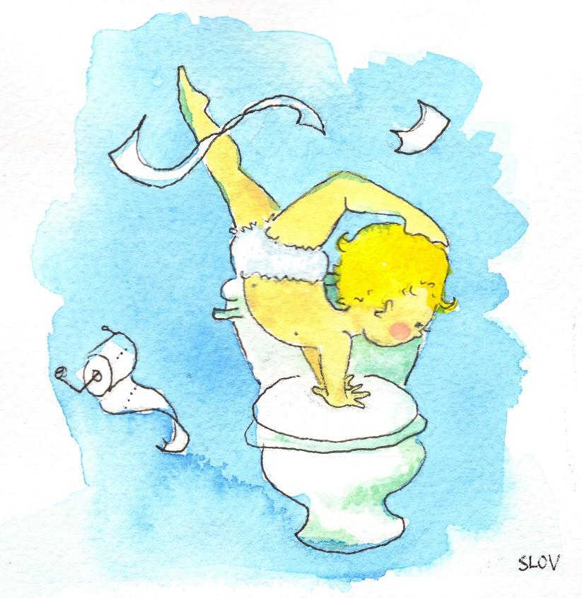 Baby Handstand Toilet